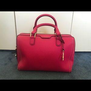Henri Bendel W57 studded barrel satchel